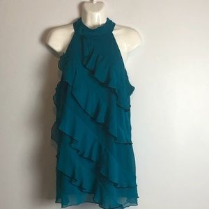 Maurices ruffle front dressy tank top